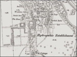Map of the hydropathic establishment Rutland stayed at in Ireland