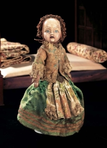This doll may not have a diamond like one in the story but it is a doll from around 1780 and is believed to represent the French Dauphin at the time. So if you have a spare $17,000 down the back of the sofa, it's all yours...