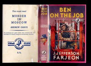This image of Ben the tramp has been reproduced on the back cover of the Collins Crime Club reprint.