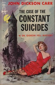 Included this cover as I thought it a classic case of a publisher trying to make a book racier than it is by placing an incongruous seductive woman on the front. In my opinion that woman would get very chilly if she was lounging about in the Scottish Highlands at that time of night...