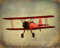 Red Monoplane