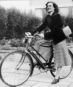 Kate spends a lot of her investigation on her bicycle.