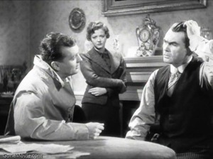John Loder (Left), Sylvia Sidney (Centre) and Oskar Homolka (Right) playing Ted, Mrs Verloc and Mr Verloc
