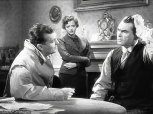John Loder (Left), Sylvia Sidney (Centre) and Oskar Homolka (Right) playing Ted, Mrs Verloc and Mr Verloc