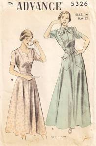 1940s Housecoats/dress: Clothing which gets mentioned a lot with Marion, as her children decide which will make her more attractive to Bill.