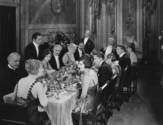 old fashioned dinner party
