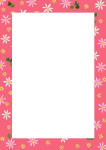 pink edged paper