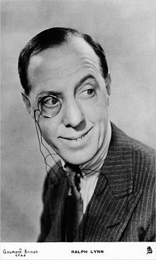 Ralph Lynn: A 1930s actor who really does do a good impression of Wimsey